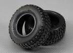 Tire 1/10 Turnigy 4WD Brushless Curso de curta duração camião (2pcs / saco)