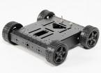 Alumínio 4WD Robot Chassis - Black (KIT)