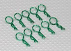 Clipes corpo médio-ring (verde) (10pcs)
