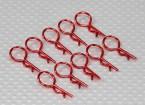 Clipes corpo médio-ring (vermelho) (10pcs)