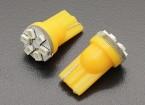 LED milho luz 12V 0.9W (6 LED) - amarelas (2pcs)