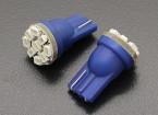 LED milho luz 12V 1.35W (9 LED) - Blue (2pcs)