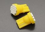 LED milho luz 12V 1.5W (10 LED) - amarelas (2pcs)