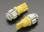 LED milho luz 12V 1.0W (5 LED) - amarelas (2pcs)
