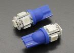 LED milho luz 12V 1.0W (5 LED) - Blue (2pcs)