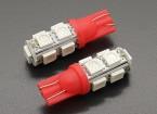LED milho luz 12V 1.8W (9 LED) - Vermelho (2pcs)