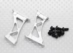 1/10 alumínio CNC cauda / Asa Apoio Frame-Grande (Silver)