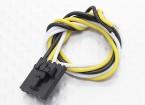 Molex 3 pinos cabo conector masculino com 230 milímetros x 26 AWG Wire.