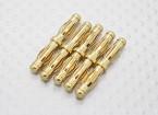 4,0 milímetros a 4.0mm ouro macho para macho Adaptador (5pc)