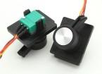 FrSky 2.4GHz ACCST TARANIS X9D Digital Telemetry Transmissor Slider substituição Side (2pcs)