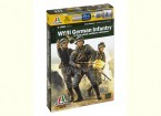 Italeri 1/56 Escala de infantaria alemã 1943-1945 (12pc) Figura Kit Militar