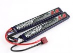 Turnigy nano-tecnologia 2000mAh 2S 15 ~ 30C Lipo AIRSOFT Pack (T-Connector)