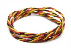 Torcido 22AWG Servo fio vermelho / preto / amarelo (1mtr)