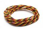 Torcido 22AWG Servo fio vermelho / preto / amarelo (2mtr)