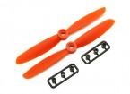 Gemfan 5045 GRP / Nylon Hélices CW / CCW Set (laranja) 5 x 4,5