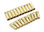 Conectores de bala 6 milímetros Supra X de ouro (10 pares)