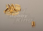 Polymax 4mm ouro Conectores (10pairs / Set)