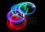 Luzes de fibra óptica para vôo noturno (azul)