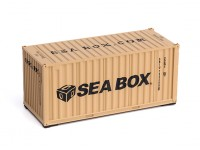 HO Scale 20ft  Shipping Container (Seabox beige)