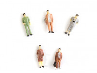 1/87th HO Scale Assorted Citizen Miniature Figures 5pcs