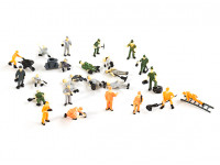 1/87th HO Scale Assorted Railway Worker Figures 27pcs