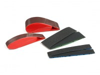 "Zona 1 1/2 ""e 3/4"" Wide Dedo Sander Mestre Set (Assorted Grit)"