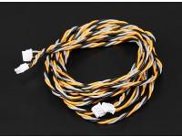 JR & Spektrum Receptor de Satélite de fios de extensão 60 e 90 centímetros (2pcs / set)