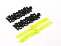 4045 Eléctrico Hélices (CW e CCW) Yellow 1 par / saco