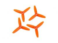 Gemfan Bullnose policarbonato 3035 3 Bladed Hélice Orange (CW / CCW) (2 pares)