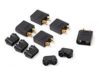 Nylon XT90 Conectores Masculino (5 pcs / saco) Preto
