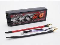 Turnigy nano-tecnologia 6000mAh 2S2P 65 ~ 130C Hardcase Lipo pacote
