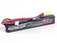 Turnigy nano-tecnologia 1400mAh 2S 15 ~ 25C Lipo AIRSOFT pacote