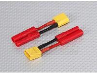 XT-60 a HXT 4 milímetros chumbo adaptador de bateria (2pc)
