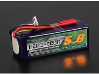 Turnigy nano-tecnologia 5000mAh 6S 65 ~ 130C Lipo pacote
