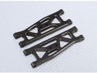 Suspension Arm Set L / R frontais (2pcs / bag) - 1/10 Brushless 2WD Desert Corrida Buggy - A2032 e A2033
