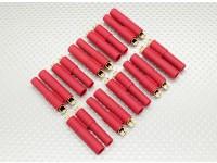HXT 4 milímetros de Ouro Connector w / Bullets Pré-instalado (10pcs / set)
