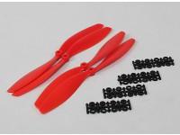10x4.5 SF Props 2pc rotação Standard / 2 pc RH rotação (vermelho)