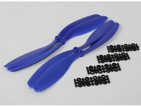 Hobbyking Slowfly Hélice 12x4.5 Blue (CW / CCW) (4pcs)