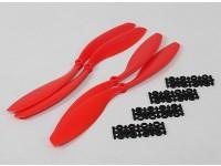 HobbyKing Slowfly Hélice 12x4.5 Red (CW / CCW) (4pcs)