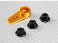 Alumínio One-way Universal Servo Arm - JR, Futaba & HITEC (dourado)