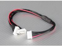 JST-XH Parallel chumbo Balance 4S 250 milímetros (2xJST-XH)