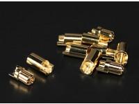 Polymax 6,5 mm ouro Conectores 5 pares (10pc)