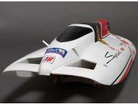 Sprint F3 Fiberglass Túnel do casco sem escova Corrida de Barco w / Motor (630 milímetros)