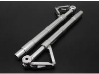 Turnigy 60 ~ 90 tamanho Alloy Sprung Oleo Strut com Trailing Link (150 milímetros) 2pc