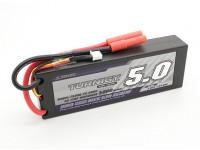 Turnigy 5000mAh 2S 7.4V 60C Hardcase pacote