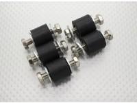 Anti vibração de borracha blocos de montagem - M6 x D18 x H16mm - (5pc)