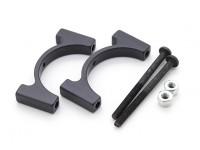Preto anodizado CNC alumínio Tubo Braçadeira Diâmetro 25 milímetros