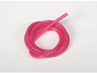 Heavy Duty Silicone combustível da tubulação Pink (Nitro) (1 mtr)