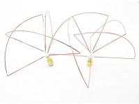 1.2 GHz Circular polarizada antena SMA (Set) (Short)