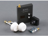 Skyzone Plug & Play FPV 200 Set Com TS5823 TX, RC832 RX, Sony CCD e circulares antenas de polarização